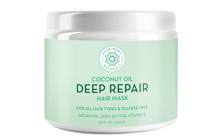 Pure Body Naturals Coconut Oil Deep Repair Hair Mask