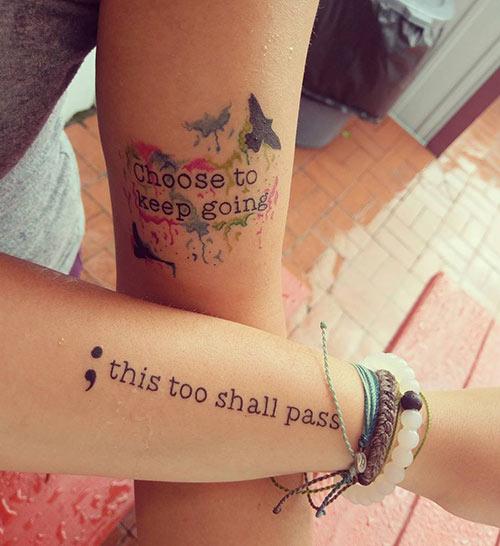 Quote Semicolon Tattoo