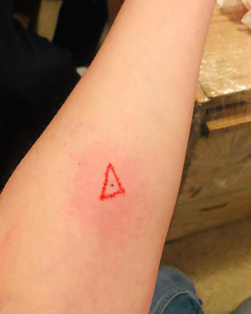 Red Triangle Tattoo