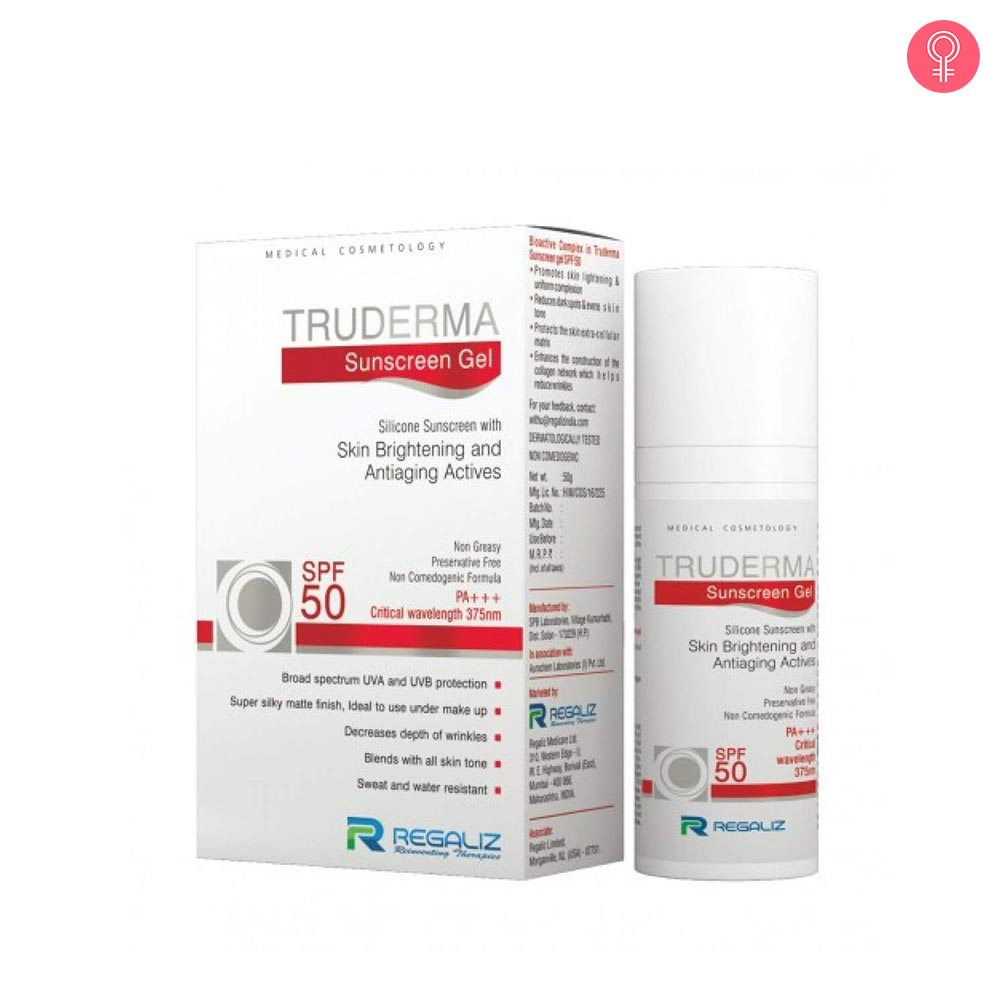 Regaliz Truderma Sunscreen Gel SPF 50