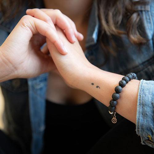 Semicolon Tattoo On Wrist