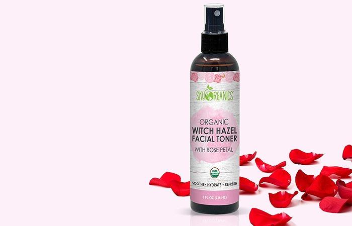 Sky Organics Organic Witch Hazel Facial Toner With Rose Petals