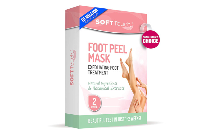 Soft Touch Foot Peeling Mask Exfoliating Callus Remover