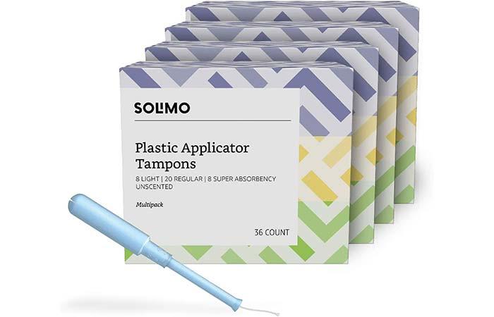 Solimo Plastic Applicator Tampons
