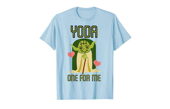 "Star Wars Yoda ""One For Me"" Cute Valentine's Day Graphic T-Shirt"