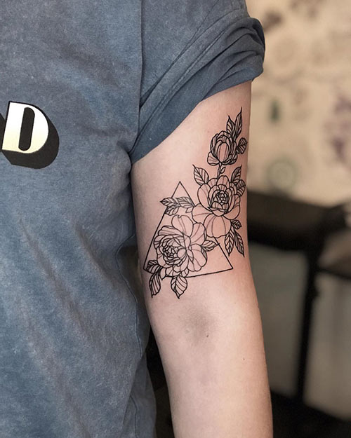 Triangle Tattoo On Arm