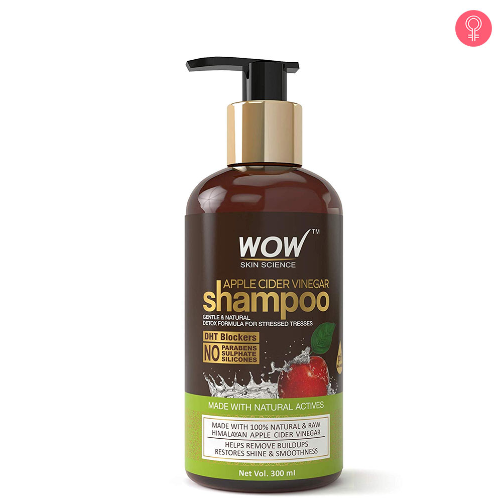 WOW Skin Science Apple Cider Vinegar Shampoo – No Parabens & Sulphate – 300 ml