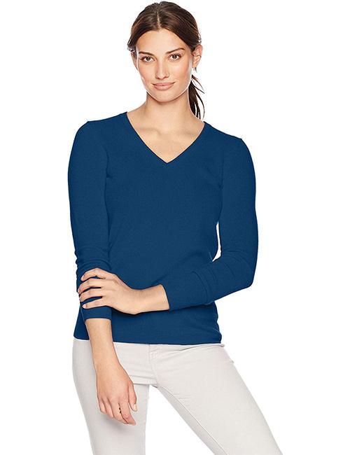 Women's V-Neck Pullover Cashmere Sweater