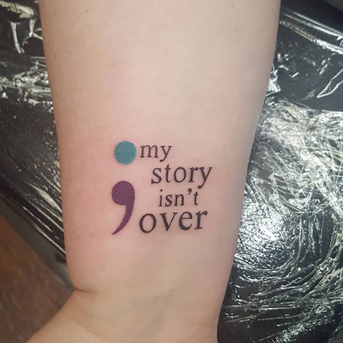 Your Story Semicolon Tattoo