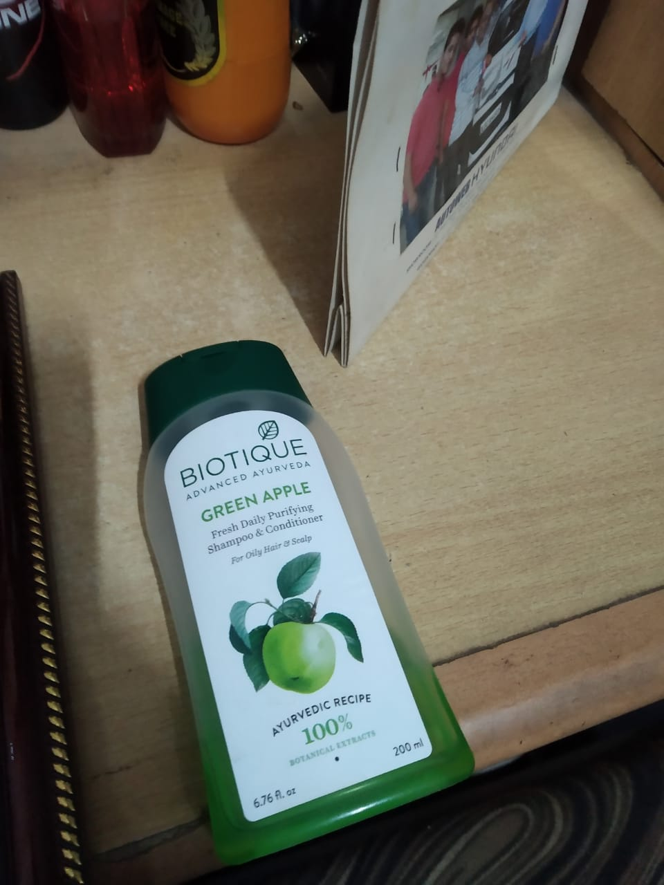 Biotique Bio Green Apple Fresh Daily Purifying Shampoo & Conditioner -Green apple shampoo-By garimabagga