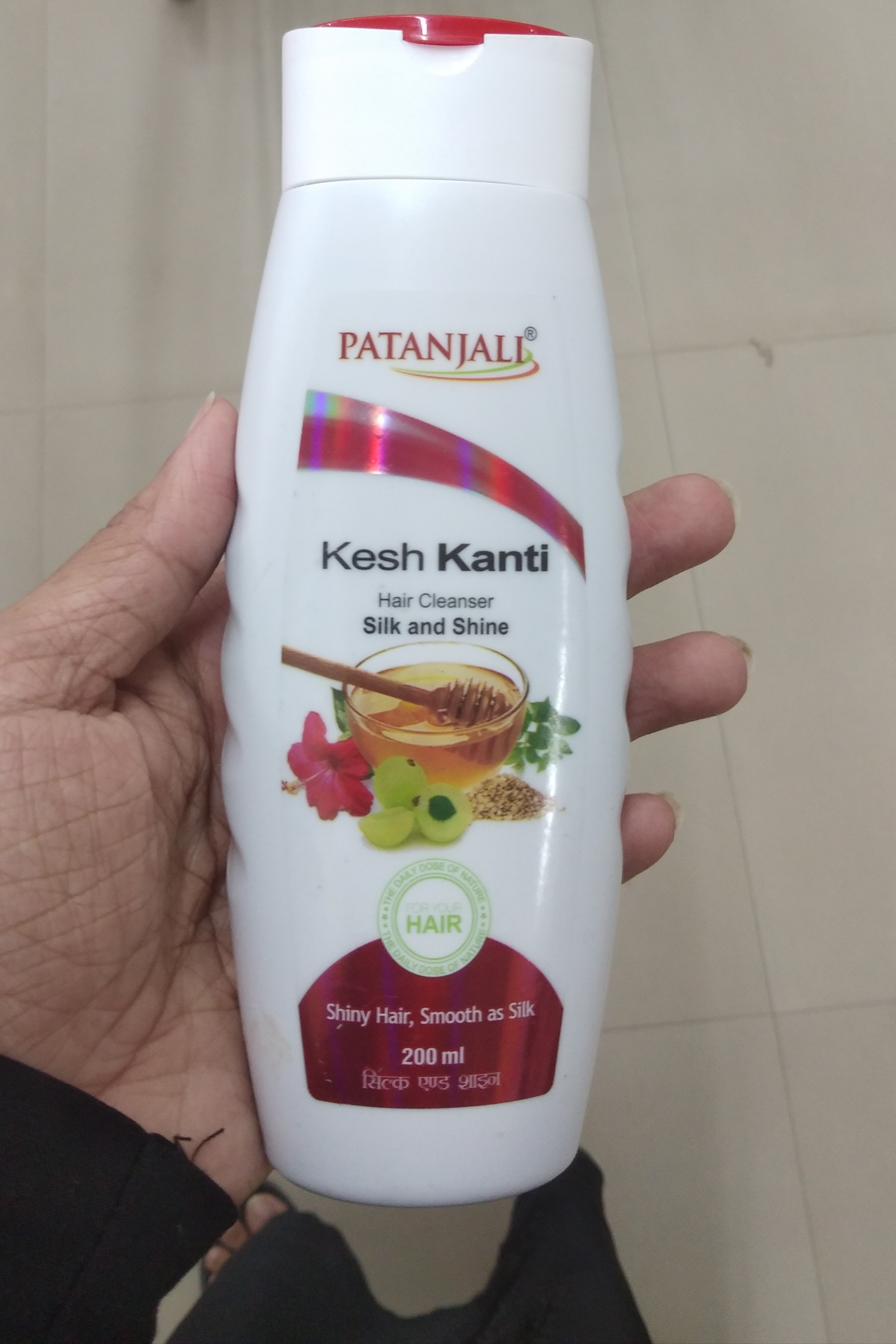 Patanjali Kesh Kanti Silk And Shine Hair Cleanser-Cleanses hair but does not control hair fall-By Nasreen-1