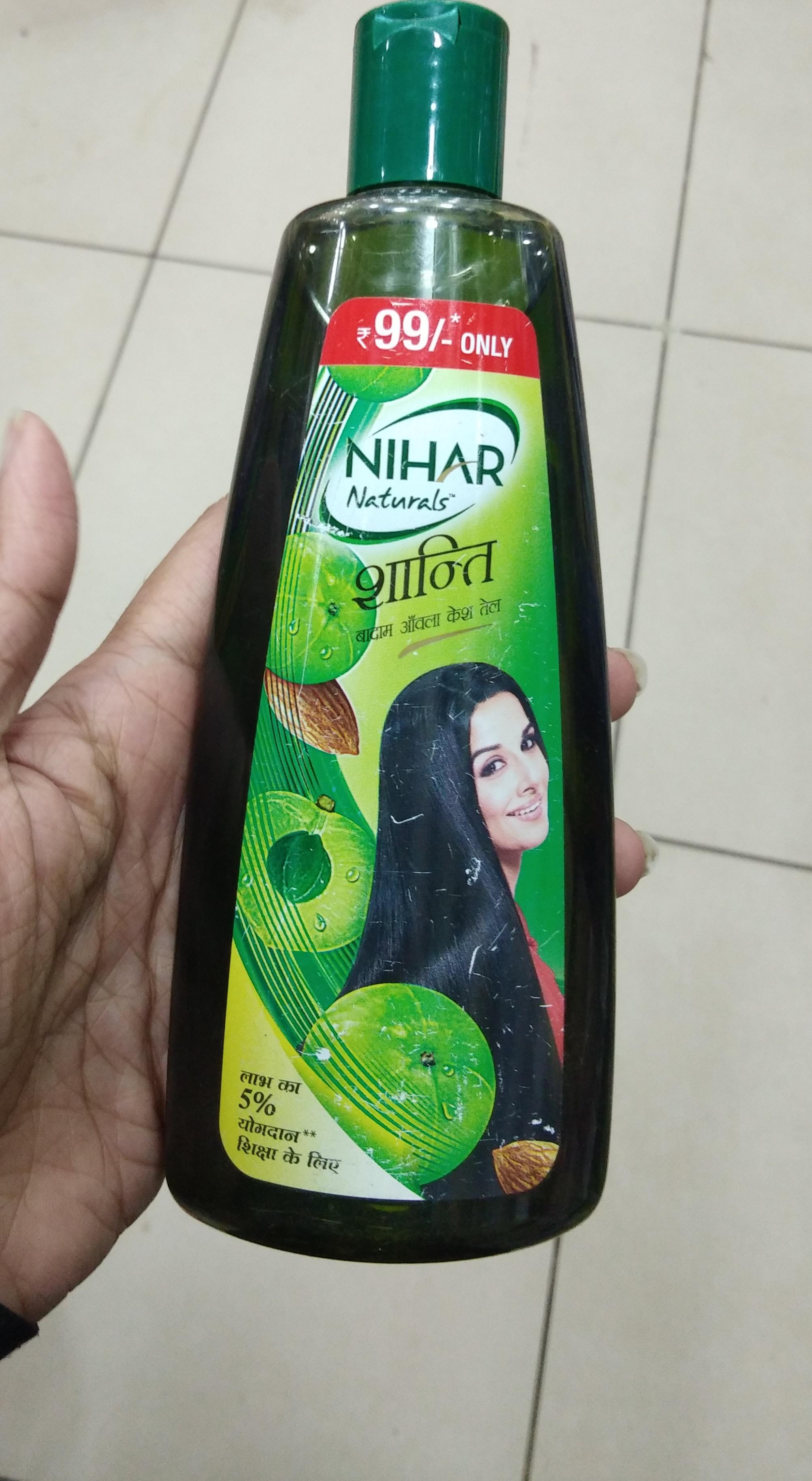 Nihar Shanti Amla Hair Oil pic 2-Not satisfied-By Nasreen