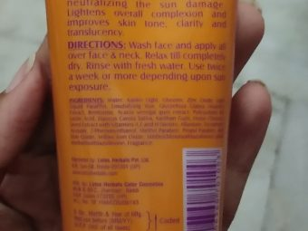 Lotus Herbals Safe Sun De-Tan After Sun Face Pack pic 1-Amazing product-By Nasreen