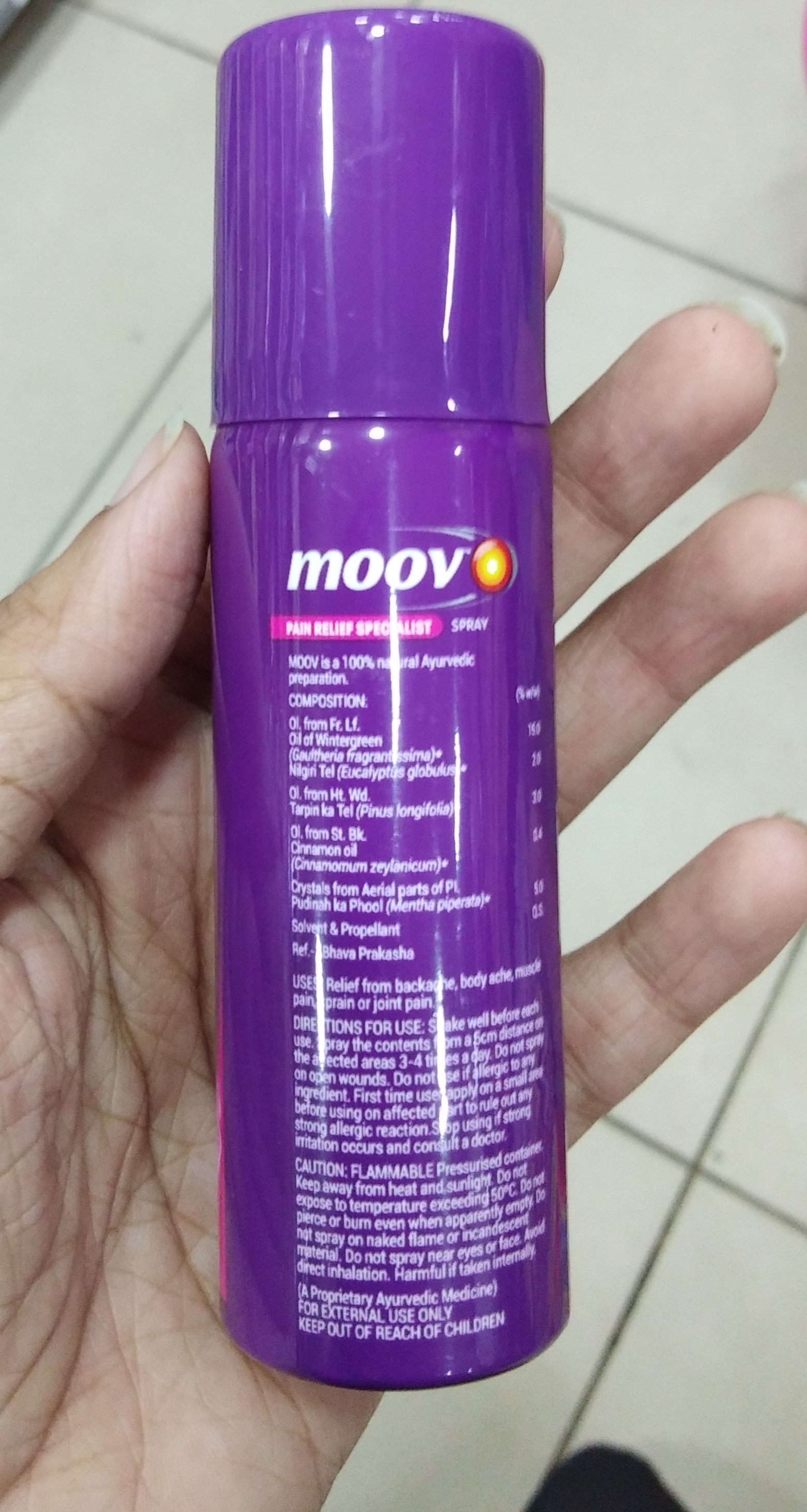 Moov Fast Pain Relief Spray-Amazing product-By Nasreen-1