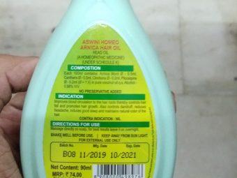 Aswini Homeo Arnica Hair Oil pic 1-Ordinary product-By Nasreen