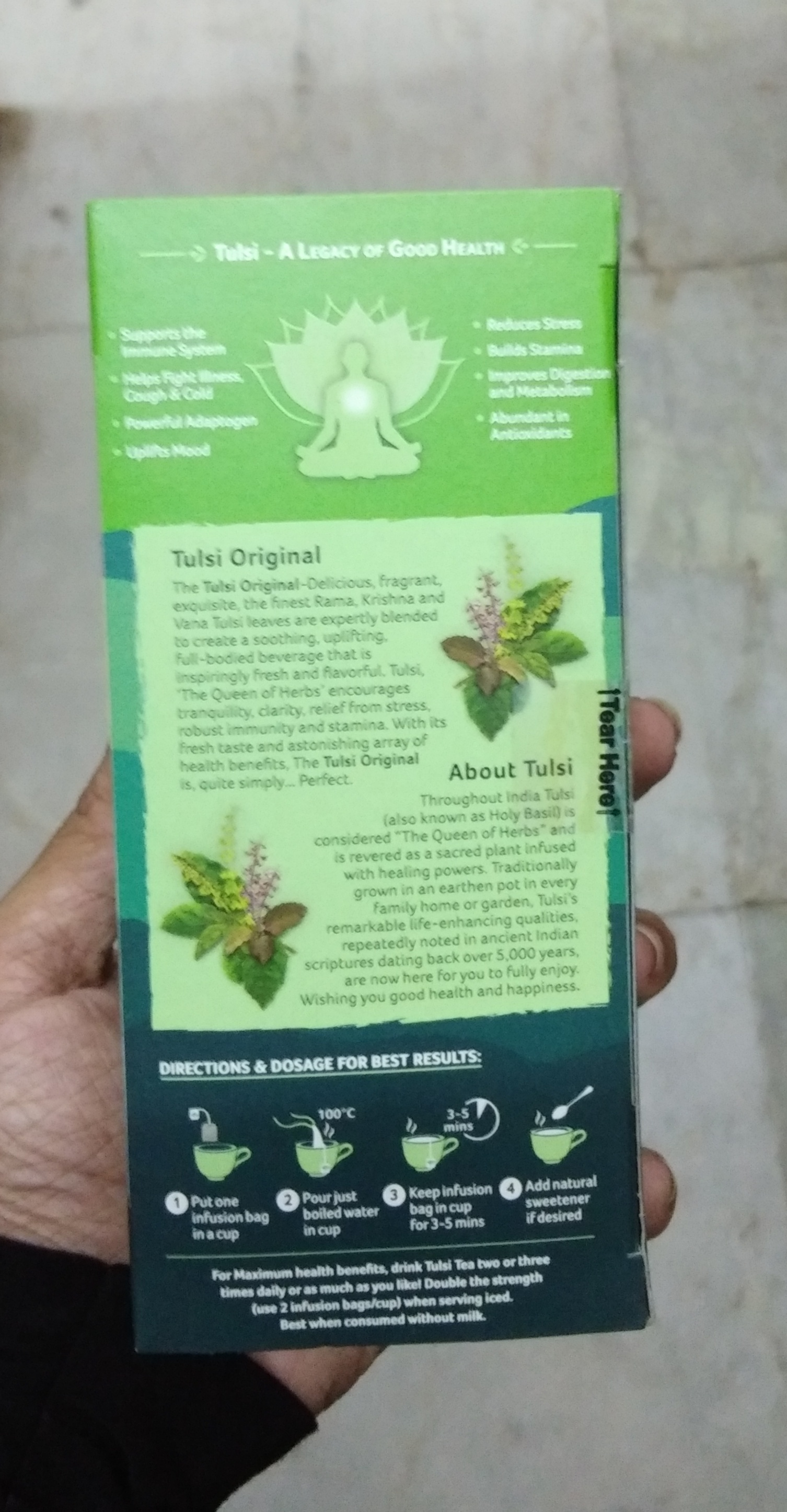 Organic India Tulsi Original Tea pic 2-Amazing product-By Nasreen