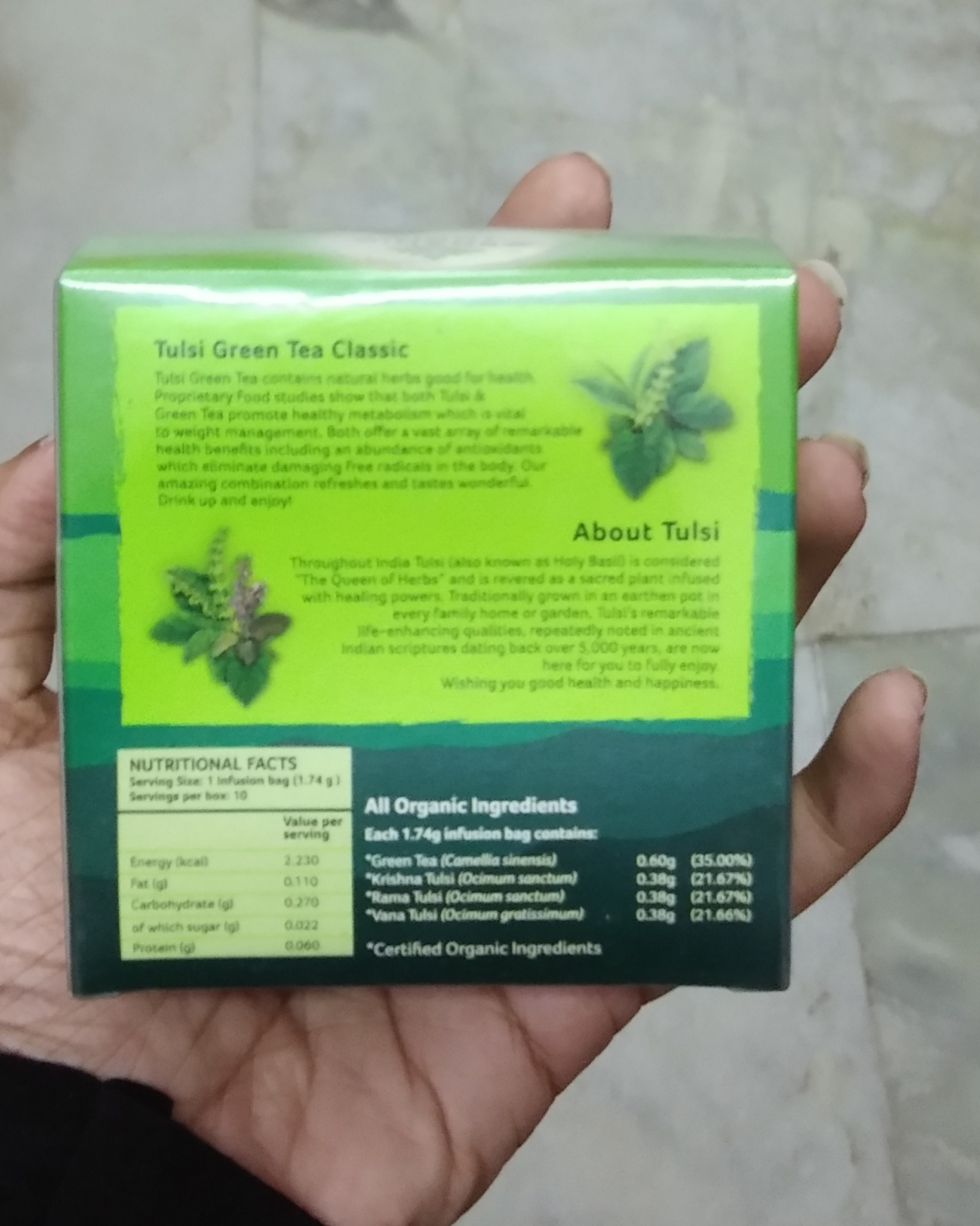 Organic India Tulsi Green Tea Classic pic 1-Amazing product-By Nasreen