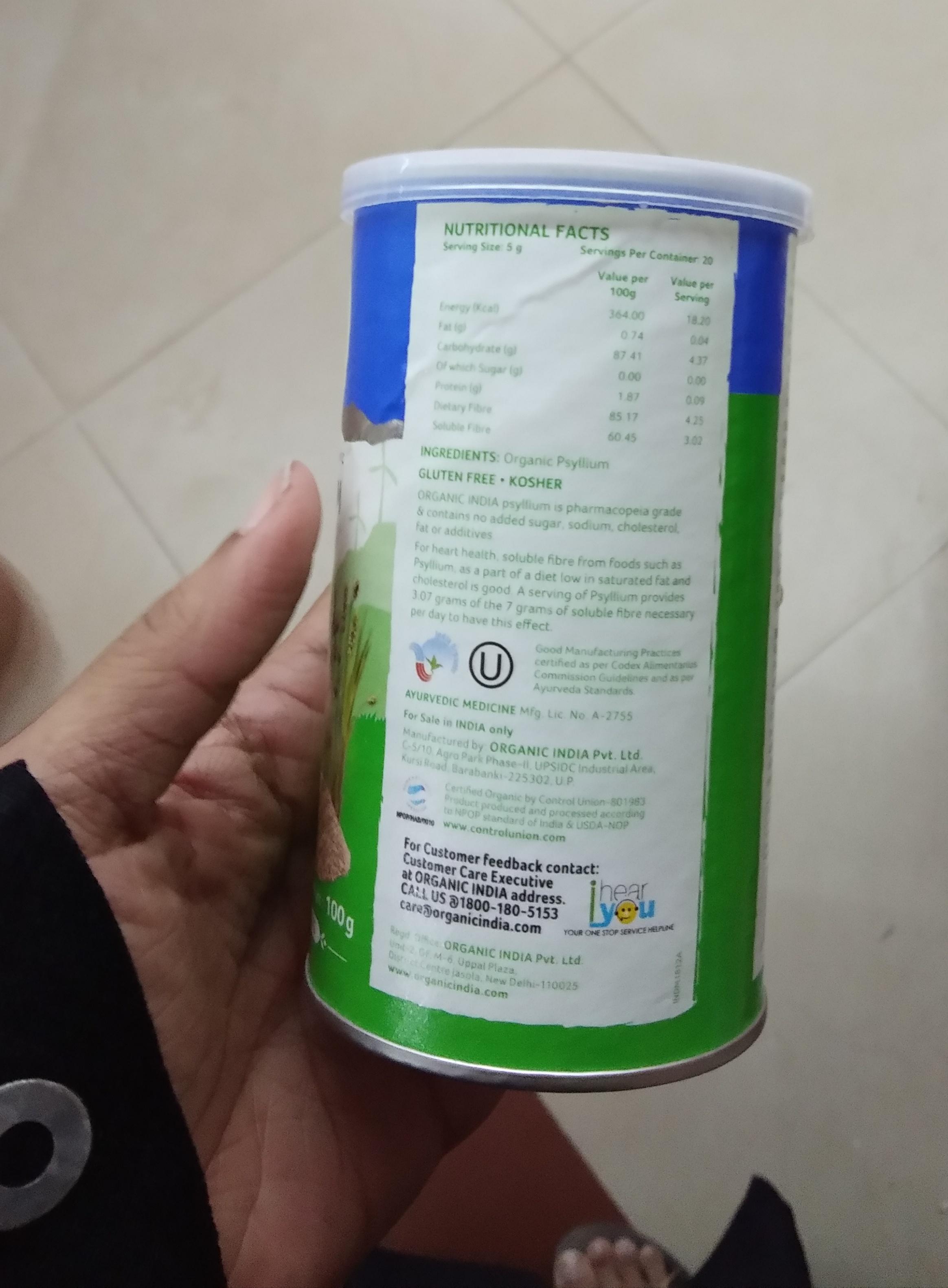 Organic India Whole Husk Psyllium-Amazing product-By Nasreen-2