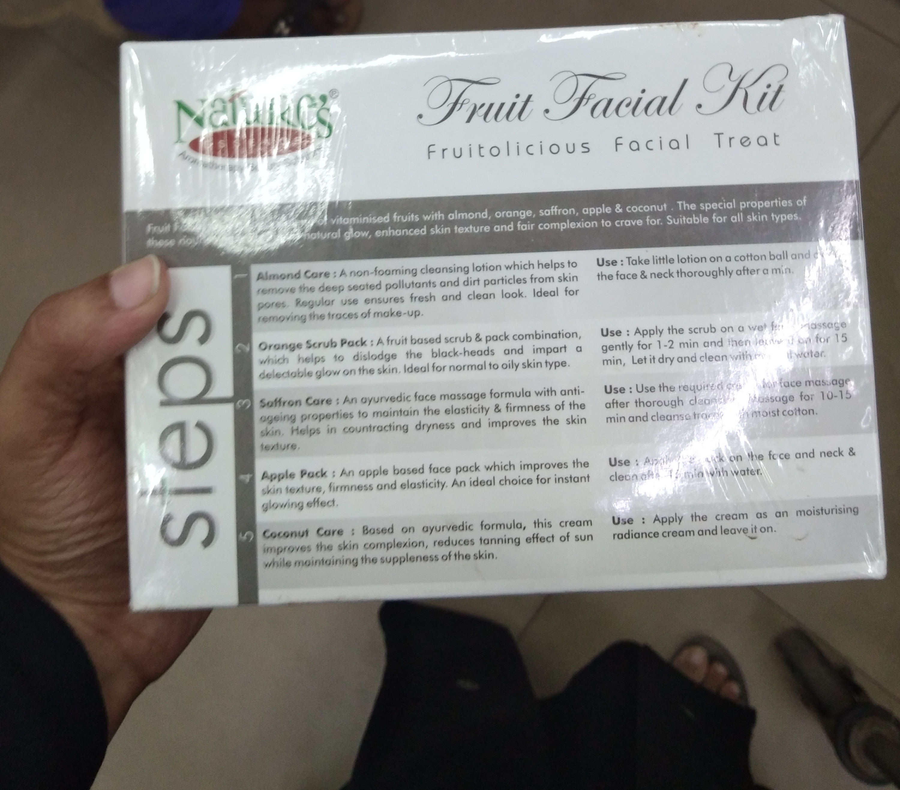 Nature's Essence Fruit Facial Kit-Good one-By Nasreen-2