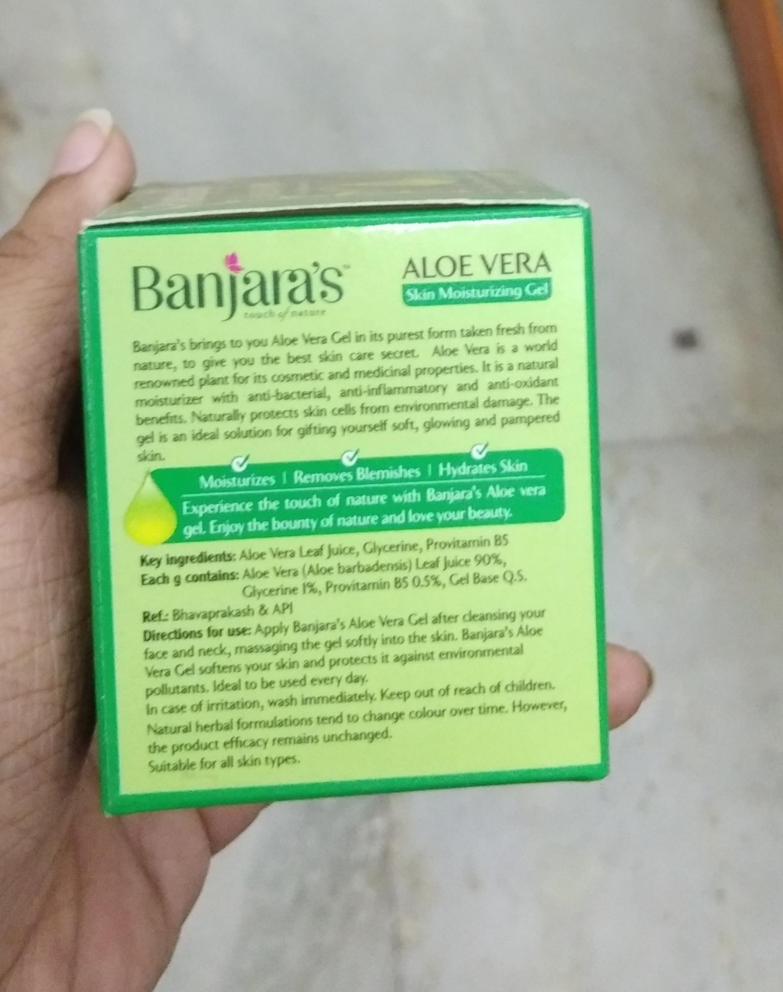Banjara's Aloe Vera Skin Moisturizing Gel-Amazing product-By Nasreen-2