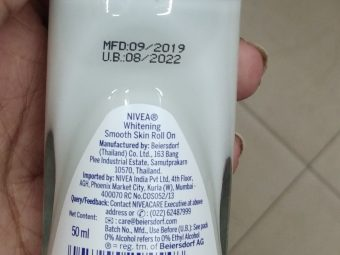 Nivea Whitening Smooth Skin Roll-On pic 2-Mild floral fragrance-By Nasreen