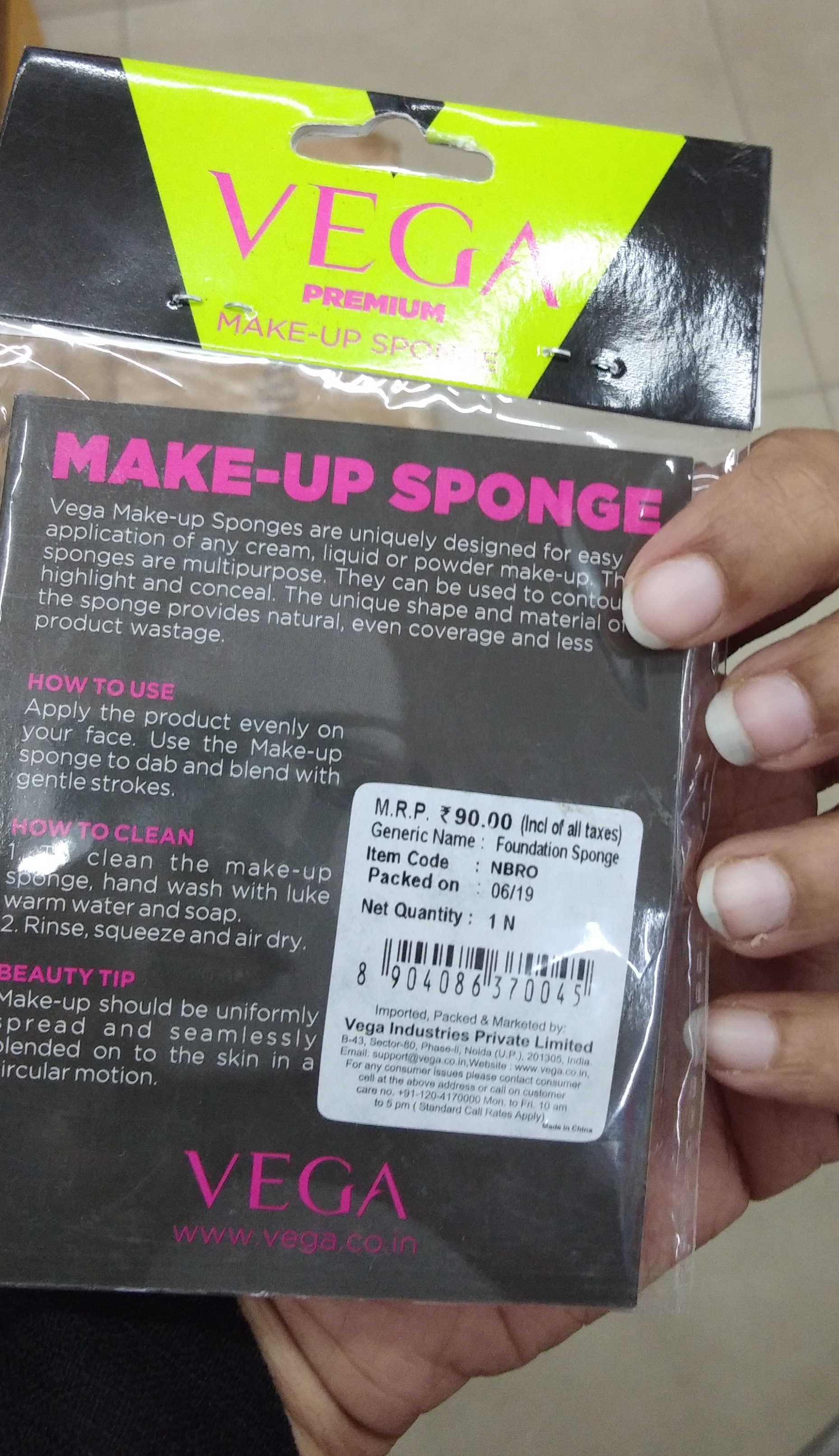 Vega Make Up Foundation Sponge-Good one-By Nasreen-2