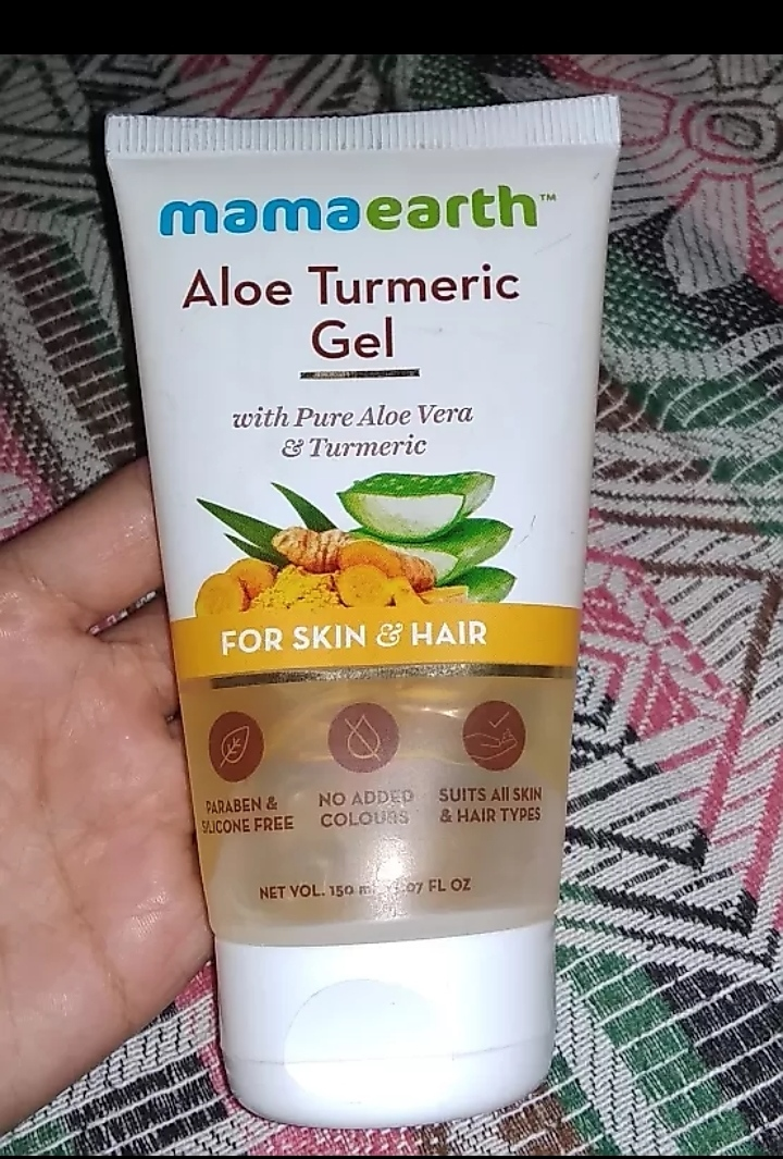 Mamaearth Aloe Turmeric Gel for Skin and Hair -Mamaearth aloe gel-By mitshu98