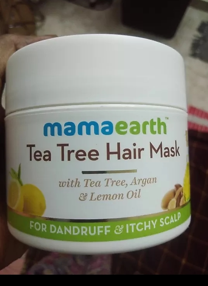 Mamaearth Anti Dandruff Tea Tree Hair Mask -Mamaearth tea tree hair mask-By mitshu98