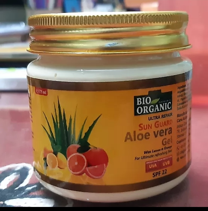 Indus Valley Bio Organic Sun Guard Aloe Vera Gel With Lemon & Orange-SPF 22-Indus valley sunscreen-By mitshu98