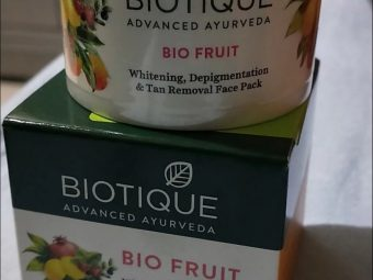 Biotique Bio Fruit Whitening & Depigmentation Face Pack -Biotique Bio Fruit whitening Face pack-By mitshu98