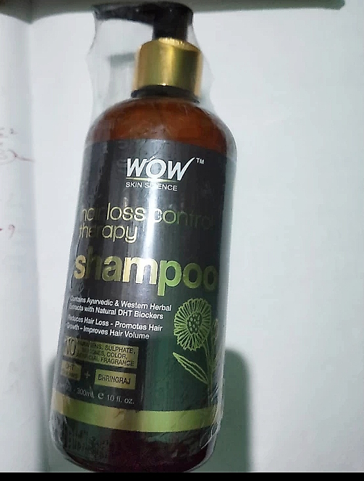Wow Skin Science Hair Loss Control Therapy Shampoo -Best hairfall shampoo-By mitshu98