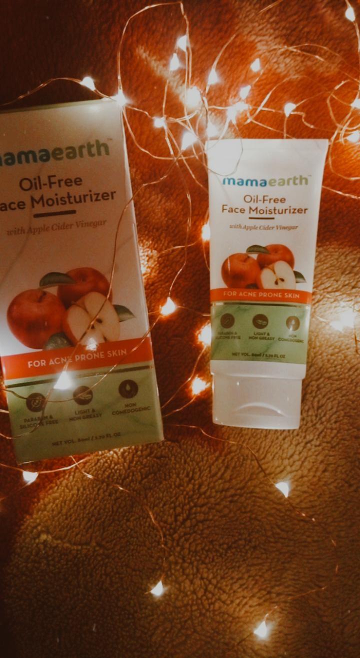 Mamaearth Oil Free Face Moisturizer With Apple Cider Vinegar-Apple Cider Vinegar moisturizer-By priyanka___ydv
