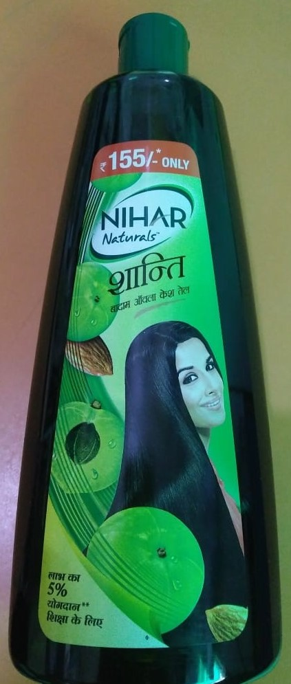Nihar Shanti Amla Hair Oil pic 1-Perfect oil for hair-By aparna_dhakne