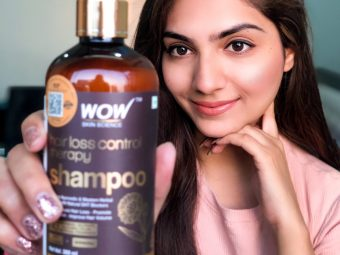 Wow Skin Science Hair Loss Control Therapy Shampoo -Wow- the hair loss therapy is here-By aditi_awasthi