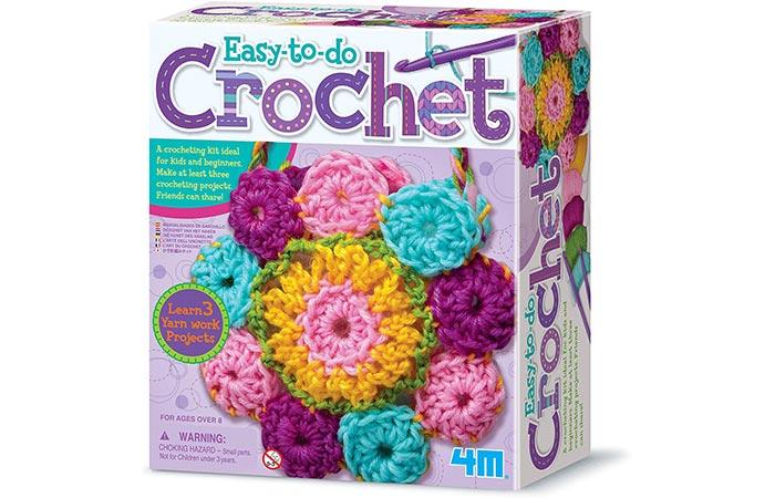 4M Easy-to-Do Crochet Kit For Kids