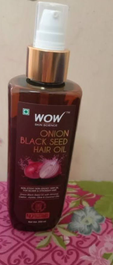WOW Skin Science Onion Black Seed Hair Oil-Wow onion black seed hair oil is really wow.I love this Oul-By vibhajoshi1013
