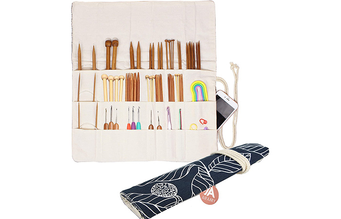 A Aifamy Knitting Needles Holder Case