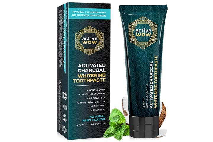 Active Wow Activated Charcoal Whitening Toothpaste