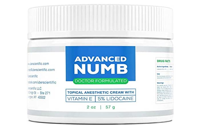 Advanced Numb 5 Lidocaine Pain Relief Cream