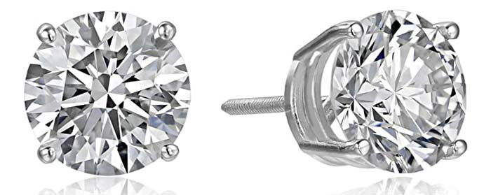 Amazon Collection Lab Created Diamond Stud Earrings