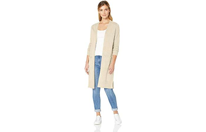 Amazon Essentials Women's Lightweight Longer Length Cardigan