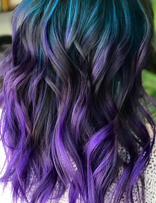 Aqua Blue And Deep Lilac