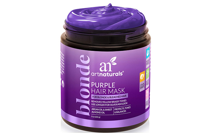 ArtNaturals Purple Hair Mask for Blonde, Silver & Platinum Hair