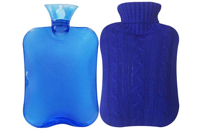 Attmu Classic Rubber Transparent Hot Water Bottle With Knit Cover