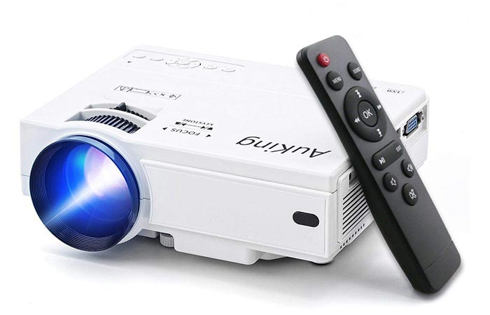 AuKing Mini Portable Video Projector