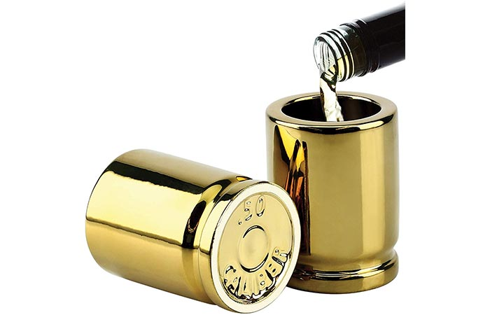 Barbuzzo Caliber Bullet Casings Shot Glasses