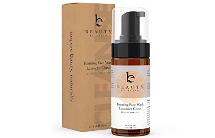 Beauty By Earth Foaming Face Wash Lavender and Citrus