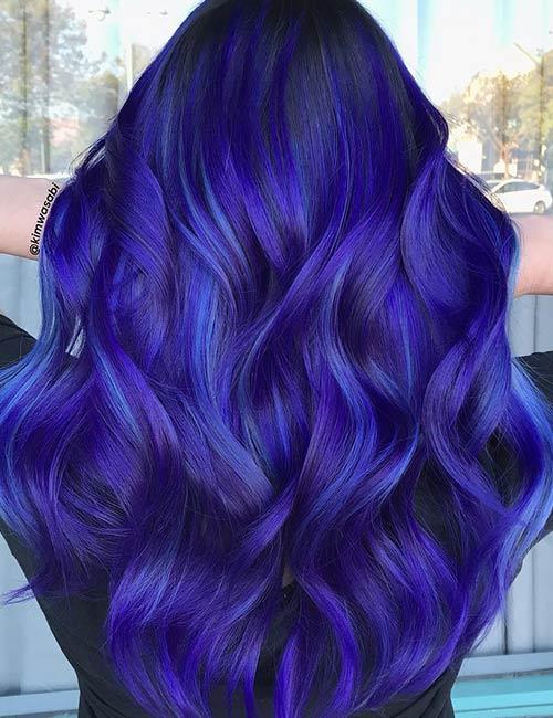 Blue Mystique And Purple Raven