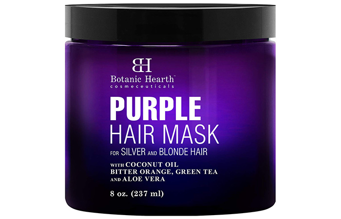 Botanic Hearth Cosmeceuticals Purple Hair Mask For Silver And Blonde Hair