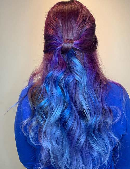 Bright Purple And Blue Waves